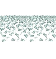 Falling dollar sign money rain Seamless pattern vector