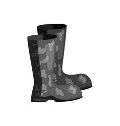 Fishing boots icon black monochrome style vector image