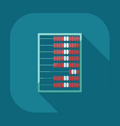 Flat modern design with shadow abacus icon vector