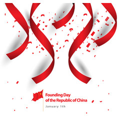 Founding day republic china template vector
