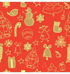 Funny winter christmas seamless pattern vector
