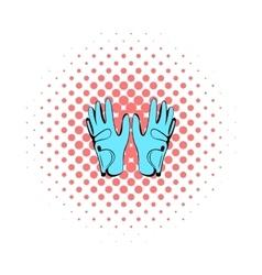 Golf glove icon comics style vector image vector image