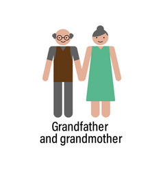 grandfather and grandmother icon can be used for vector image