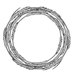 Graphic malt wreath vector