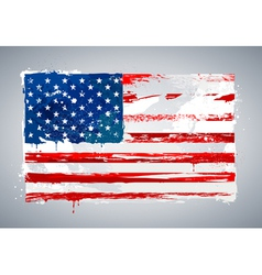 Grunge USA national flag vector