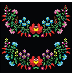 Hungarian floral folk pattern - Kalocsai vector