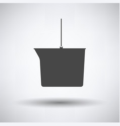 Icon of bucket vector