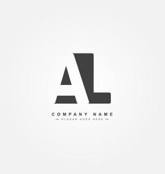 Initial letter al logo - simple business logo vector