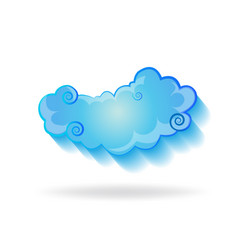 isolated cloud vector image