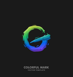 Letter g colorful template vector