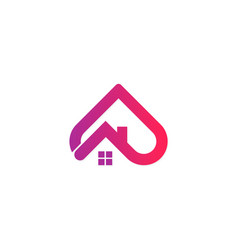 love house logo vector image