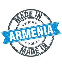 Made in Armenia blue round vintage stamp vector