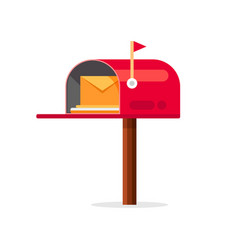 Mail box icon post mailbox letter vector