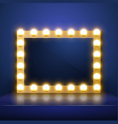 make up mirror with light artist dressing vector image