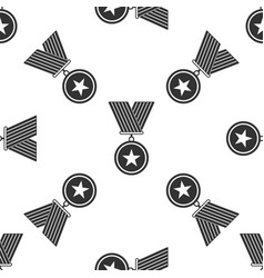 medal with star icon seamless pattern vector image