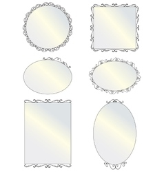 Mirror with vintage frames vector
