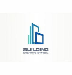 office building creative symbol concept modern vector image
