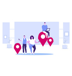 people using gadgets online navigation app concept vector image