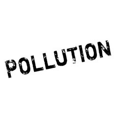 pollution rubber stamp vector image