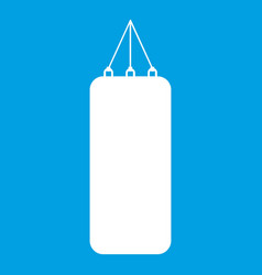 punching bag for boxing icon white vector image