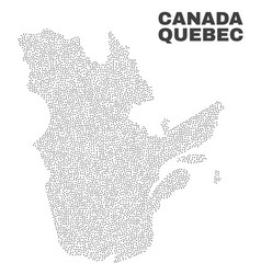 Quebec province map of dots vector