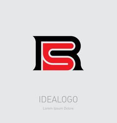 R and 5 initial logo r5 initial monogram logotype vector