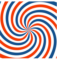 Red blue and white spiral background twirl vector