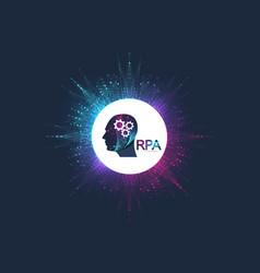 rpa robotic process automatisation futuristic vector image