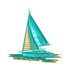 Sailboat stylized vector