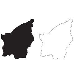 San marino country map black silhouette vector