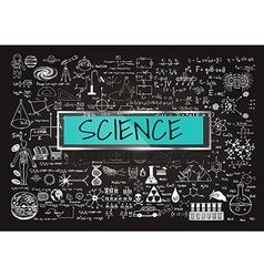 Science on chalkboard vector