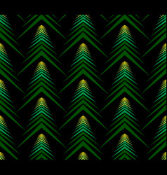 Seamless pattern abstract spruce on black backg vector