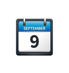 September 9 Calendar icon vector image
