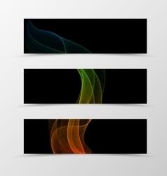 set banner wave design vector image