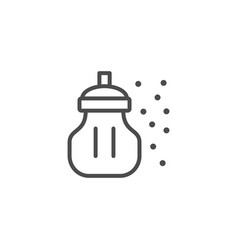 Shaker line outline icon and sugar concept vector