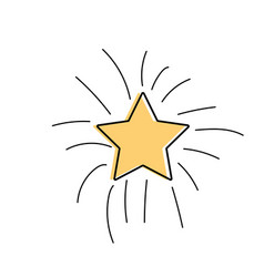 Shiny star in the sky art vector