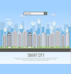 smart city urban landscape vector image