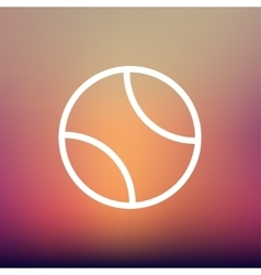 Tennis Ball thin line iocn vector image
