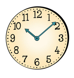 vintage watch face with hands vector image
