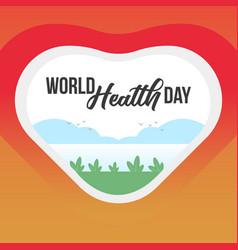 World health day banner vector