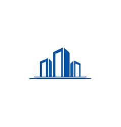 building construction city logo vector image