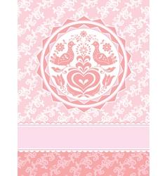 decorative greeting card vector image