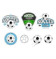 European football soccer labels emblems vector