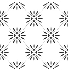 Floral square pattern vector image vector image