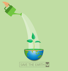 save the eco earth vector image vector image