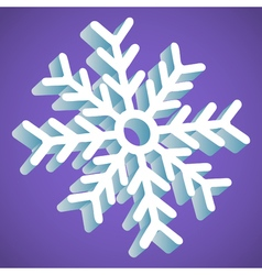 Snowflake smooth icon in perspective on lavender vector