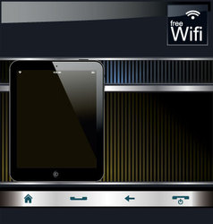 tablet pc background vector image