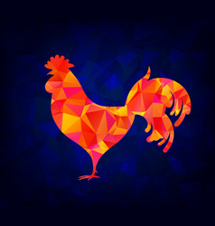 The abstract image of a rooster design styling vector