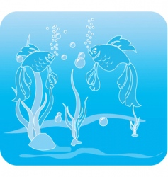 dancing fishes vector image vector image