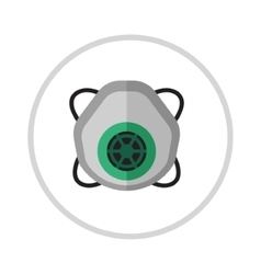 Gas mask isolated render on a white background vector